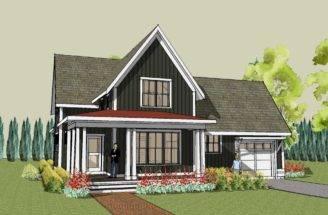 Hudson Farmhouse Plan Unique Home Design