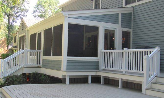 Ideas Amazing Screened Porch Deck Designs