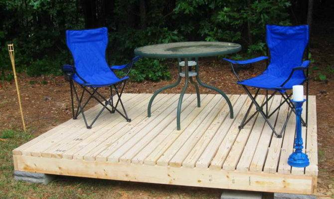 Ideas Simple Floating Deck Plans Make