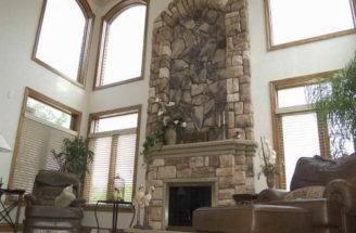 Indoor Classic Design Stone Fireplace China