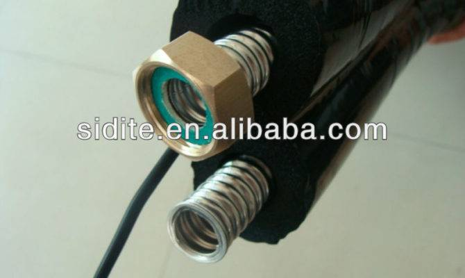 Insulated Flexible Twin Pipe Solar Hose Water Heaters Copper