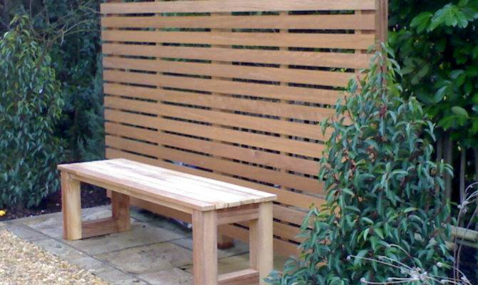 Iroko Hardwood Trellis Garden Bench Penrose Carpentry