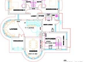 Kerala Villa Plan Elevation Home Design Floor Plans