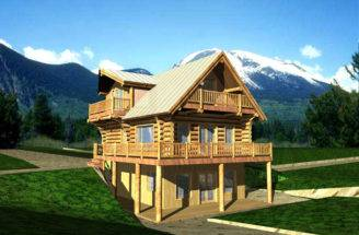 Lake House Plans Log Cabin Mountain Home Rustic
