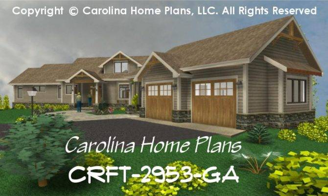 Large Craftsman Style House Plan Crft Luxury Home