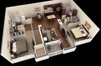 Layout Second Floor Approach Two Bedroom