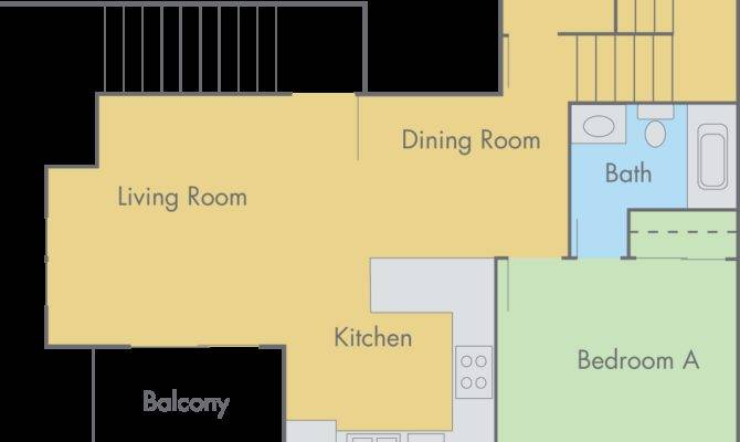 Lexington Floor Plan Bedroom Bathroom Townhouse