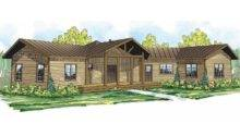 Lodge Style House Plans Blue Creek Associated Designs