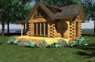 Log Homes Floor Plans Small Cabin Home