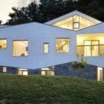 Long Tin House Fluctuating Facade Panorama Moon