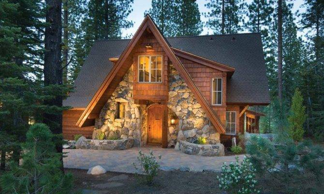 Love Stone Front Log Cabin Cozy Pinterest
