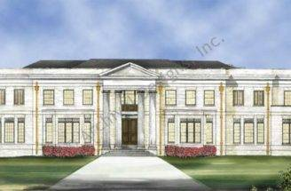 Luxury Estate House Plan Elms Front Nice Have Pinterest