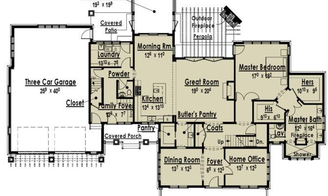 Luxury Home Plans Two Masters Archival Designs