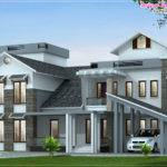Luxury House Elevation Feet Kerala Home Design Floor
