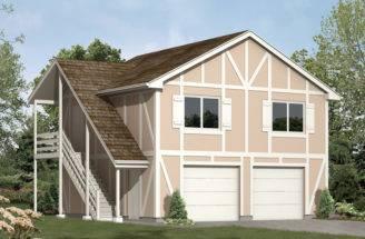 Magdelena Garage Apartment Plan House Plans More