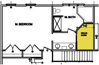 Master Bedrooms Bathroom Floors Plans Small Closet