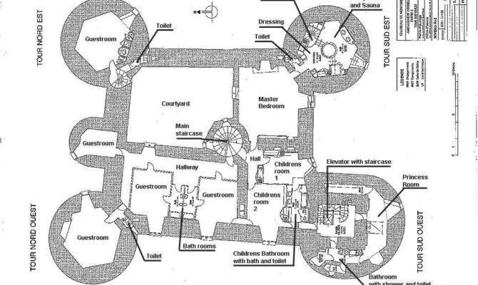 Medieval Castle Blueprints Montbrun French Chateau