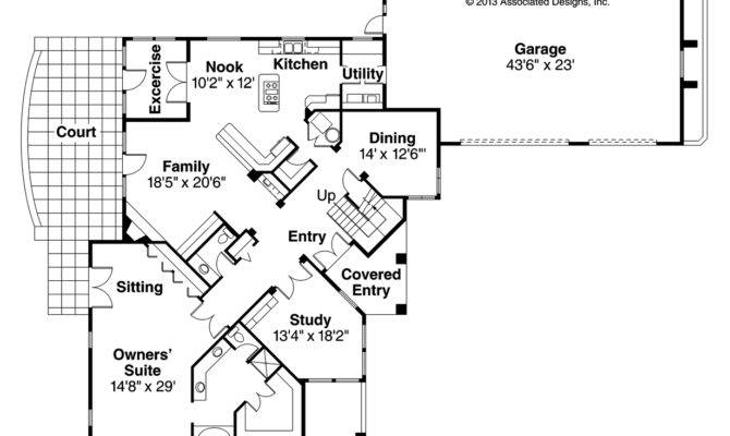 Mediterranean House Plans Pasadena Associated Designs