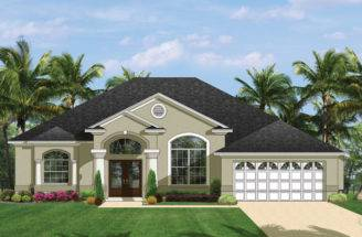 Mediterranean Modern Home Plans Florida Style Designs Homeplans
