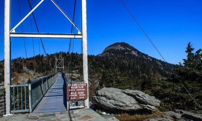 Mile High Swinging Bridge Grandfather Mountain North Carollina