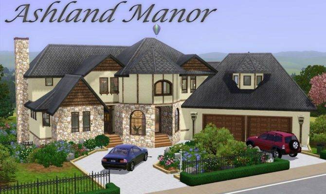 Mod Sims Ashland Manor Modern Mock Tudor
