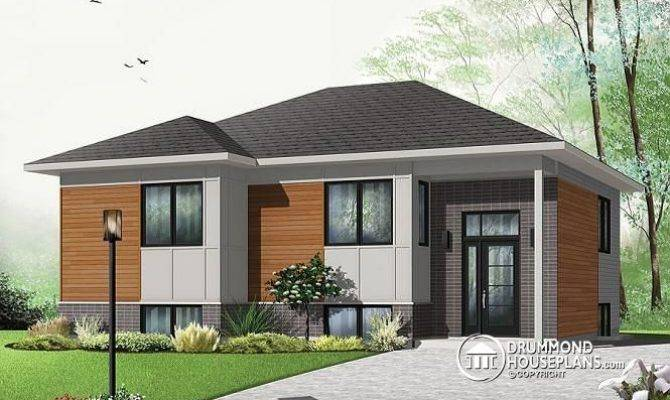 Modern Bungalow House Plan Open Floor Aspendale