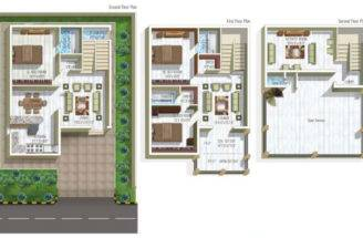 Modern Duplex Apartments Plan