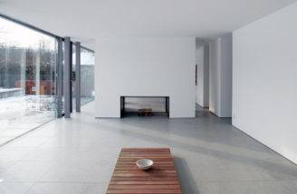 Modern Home Bielefeld Germany Open Plan Living Contemporary Fireplace