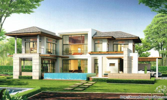 Modern House Designs Double Floor