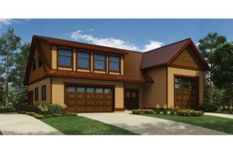 Modern House Plan Garage Privately Accessed Apartment