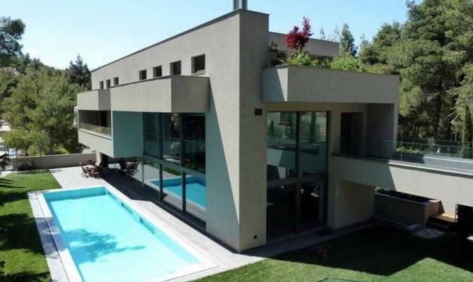 Modern House Plans Designs Side Pool Ultra