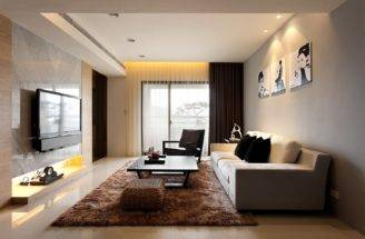 Modern Living Room Decor Apartment Moscow Russia Andrey Zharnitsky