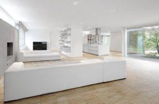 Modern Minimalist White Living Room Interior Architecture Design