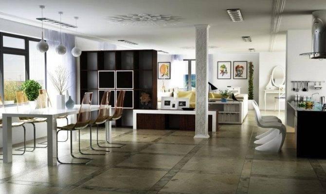 Modern Open Plan Living Space Design Olpos
