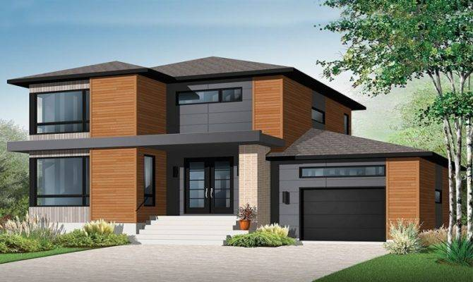 Modern Story Contemporary House Plans Storey Designs