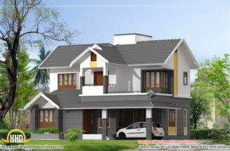 Modern Style Duplex House Kerala Home Design