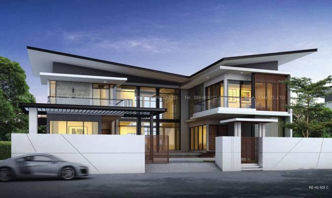 Modern Two Storey House Design World Furnishing Designer