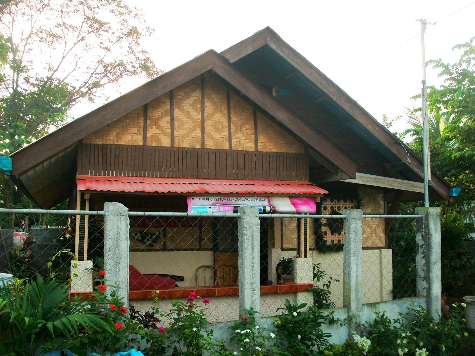 Modern version bahay kubo half concrete native materials