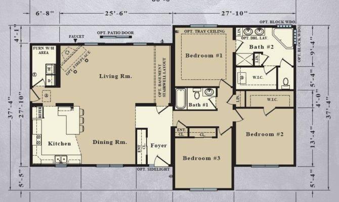 Modular Home Brick Floor Plans
