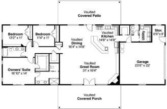 More House Plan Ranch Greatroom