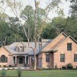 New American Style Homes Exterior Design Types Brick Wall