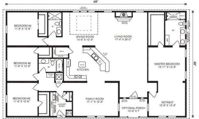 New Mobile Home Floor Plans Double Wide