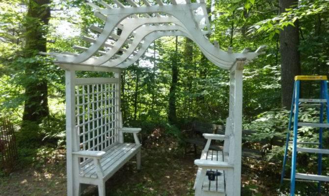 Nice Trellis Bench Diy Garden Pinterest