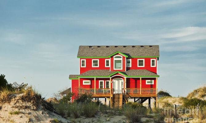 Obx Beach House Photograph Fine Art Print