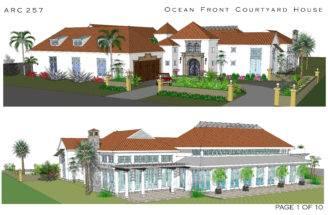Ocean Front Couirtyard House