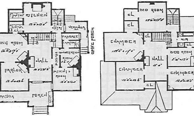 Old House Plans Home Office Narrow Lot