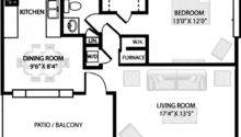 One Bedroom Apartment Floor Plans Above Part Post