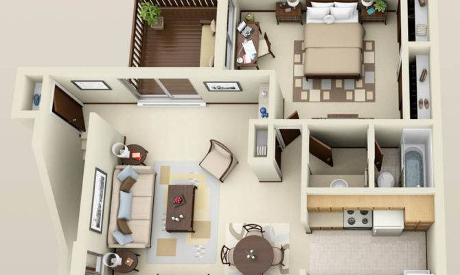 One Bedroom Apartment Floor Plans Apartments