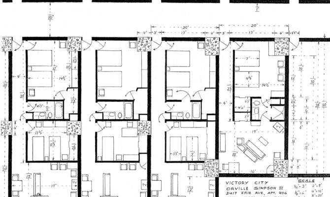 One Bedroom Apartments Plans Small Apartment Floor