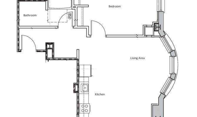 One Bedroom Plans Designs Small Apartment Floor